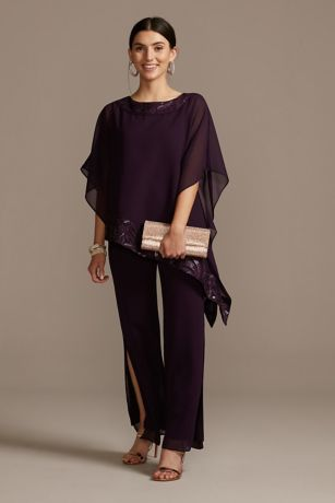 Long Mermaid/Trumpet Capelet Dress - Le Bos