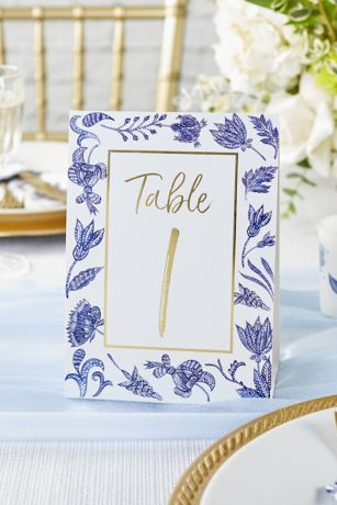 Blue Willow Tent-Style Table Numbers