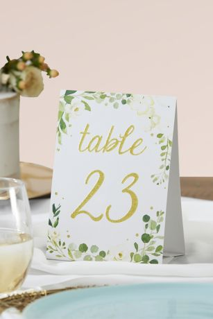 Botanical Garden Wedding Table Numbers Set