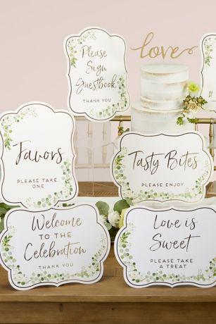 Botanical Garden Wedding Wayfinding Sign Kit