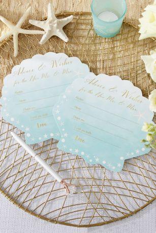 Beach Party Wedding Advice Cards