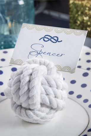Nautical Cotton Rope Knot Place Card Holders