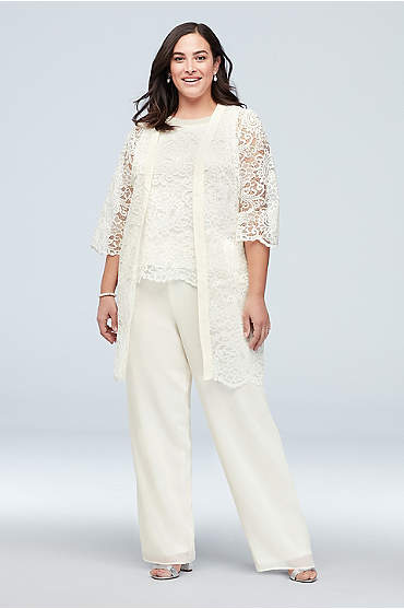 Flowy Chiffon Three-Piece Set with Embellished Top