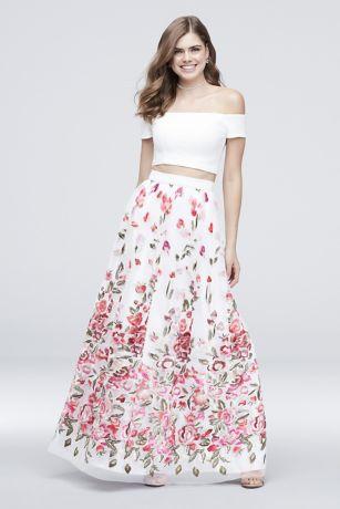 Long Ballgown Off the Shoulder Dress - Trixxi