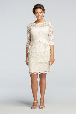 Short Sheath 3/4 Sleeves Dress - Marina