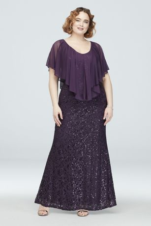 c503aadd7ee38d Long Sheath Capelet Dress - Marina