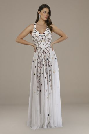 Long A-Line Wedding Dress - Lara