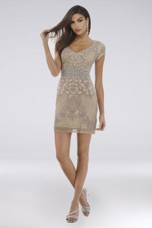 Short Sheath Short Sleeves Dress - Lara