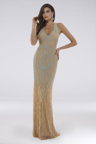 Long Mermaid/ Trumpet Halter Dress - Lara