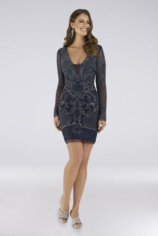 Short Long Sleeves Dress - Lara