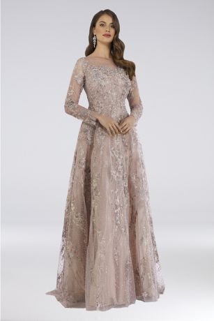 Long Ballgown Long Sleeves Dress -