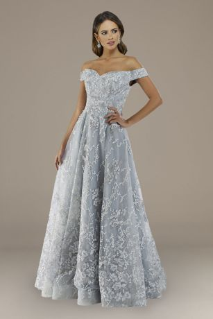 Long Ballgown Off the Shoulder Dress - Lara