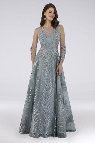 Long Ballgown Long Sleeves Dress - Lara