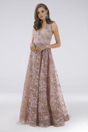 Long Ballgown Sleeveless Dress - Lara