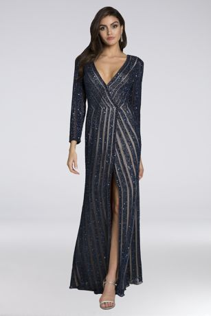 Long Sheath Long Sleeves Dress - Lara