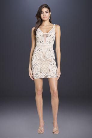 Short Sheath Wedding Dress - Lara