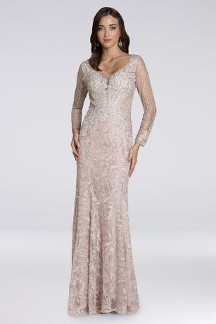Long Mermaid / Trumpet Long Sleeves Dress - Lara