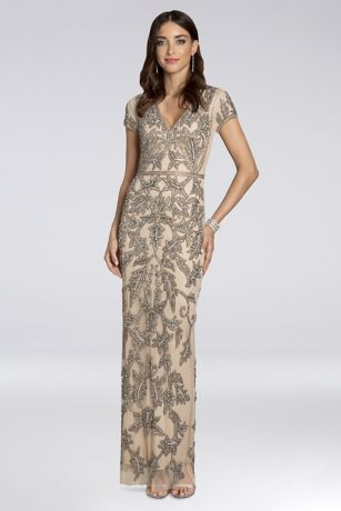 Long Sheath Short Sleeves Dress - Lara