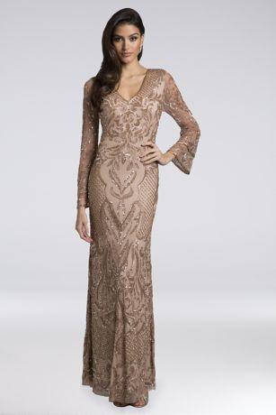 Long Mermaid/ Trumpet Long Sleeves Dress - Lara
