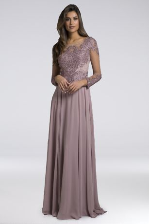 Long A-Line Long Sleeves Dress - Lara