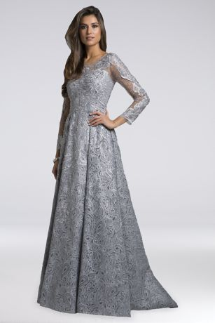 25aff613e36e Long Sleeve Prom Dresses - 3/4 and Full, Lace Sleeves | David's Bridal
