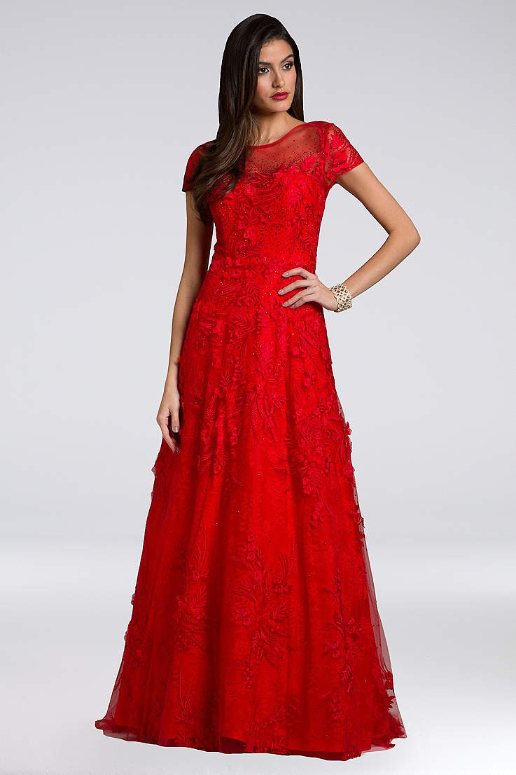 Red Long Dresses for Weddings Bridals