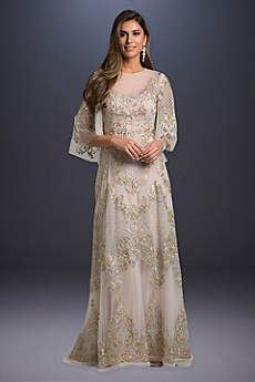 Long A-Line Boho Wedding Dress - Lara