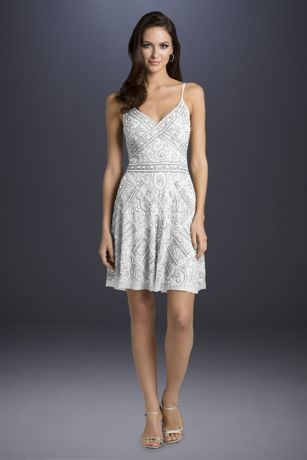 Short A-Line Wedding Dress - Lara