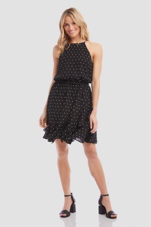A-Line Halter Dress - Karen Kane