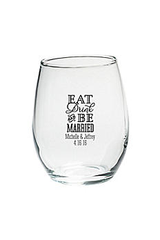 Personalized Be Married 9 oz Stemless Wine Glass 30009NA-ED