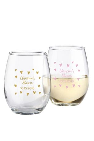 Personalized Sweet Heart Stemless Wine Glass