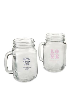 Personalized 16 oz Mason Jar Mug