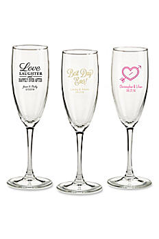 Personalized Wedding Theme Champagne Flutes 30038NA-WD