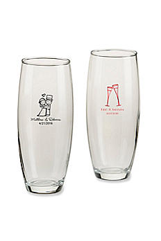 Personalized Wedding Stemless Champagne Glass 30039NA-WD