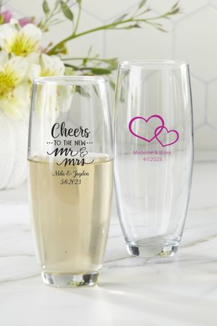 Personalized Stemless Champagne Glass