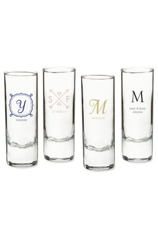 Personalized Wedding Tall Shot Glass