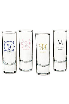 Personalized Wedding Tall Shot Glass 30040NA-WD