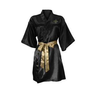New Orleans Saints Crystal Embellished Satin Robe