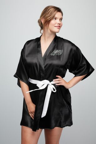 Philadelphia Eagles Crystal Embellished Satin Robe