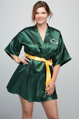 Green Bay Packers Crystal Embellished Satin Robe