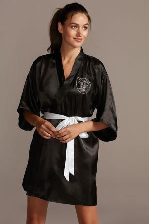 Oakland Raiders Crystal Embellished Satin Robe