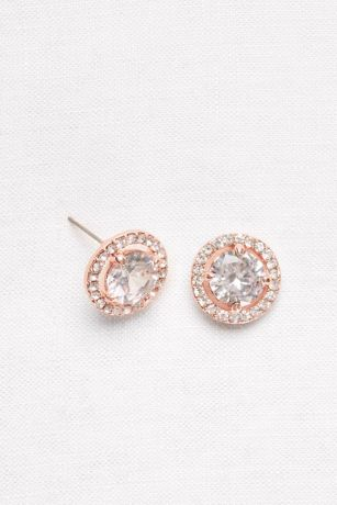 Pave Crystal Button Studs