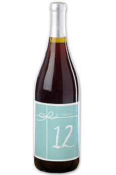 Something Blue Wine Label Table Number Set 1 to 20