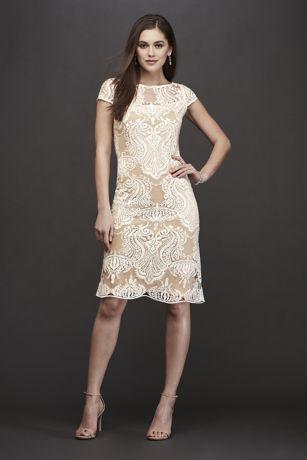 Short Sheath Short Sleeves Dress - RM Richards