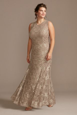 Long Mermaid/ Trumpet Tank Dress - RM Richards