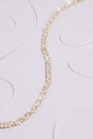 Marquise and Circle Cut Crystal Band Sash