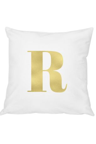Personalized Gold Foil Initial Throw Pillow