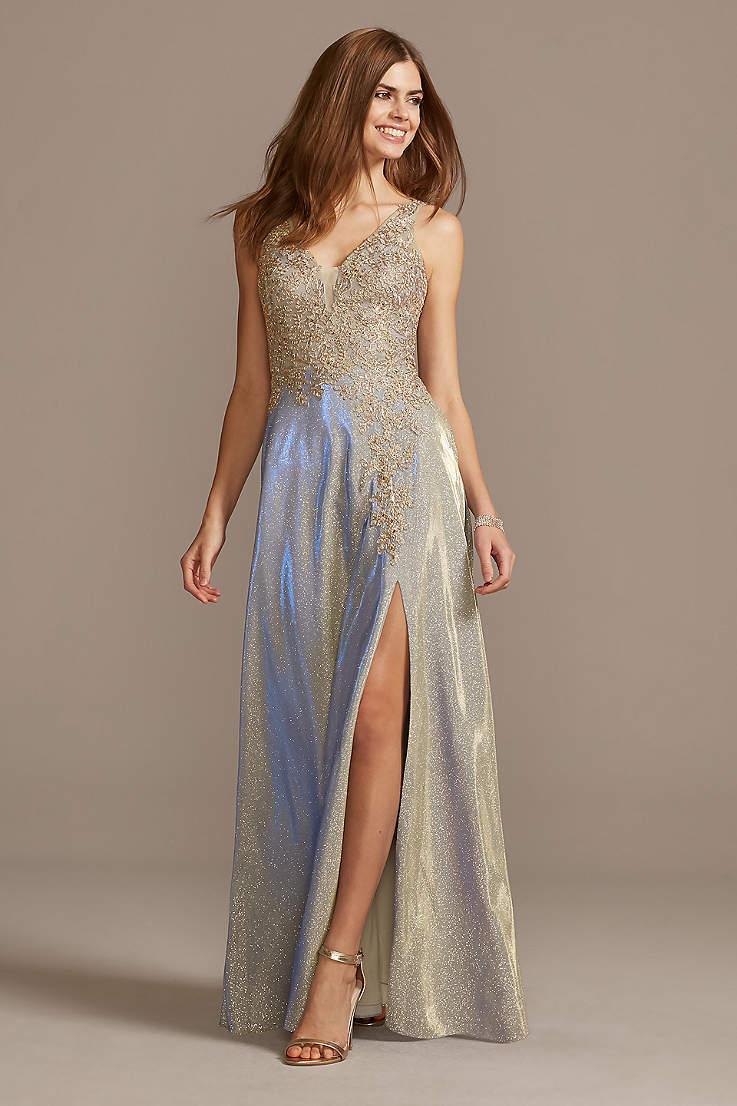 Gold Silver And Metallic Formal And Wedding Guest Dresses David S Bridal,Audrey Hepburn Sabrina Wedding Dress
