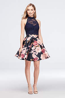 Short Ballgown Halter Cocktail and Party Dress - City Triangles