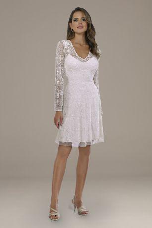 Short A-Line Wedding Dress - Lara